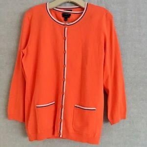 Talbots Orange Sweater Set